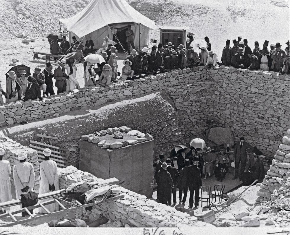 Раскопки захоронения фараона Тутанхамона